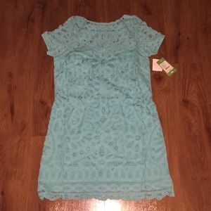 Nwt shorely blue Marie kate dress battenburg large